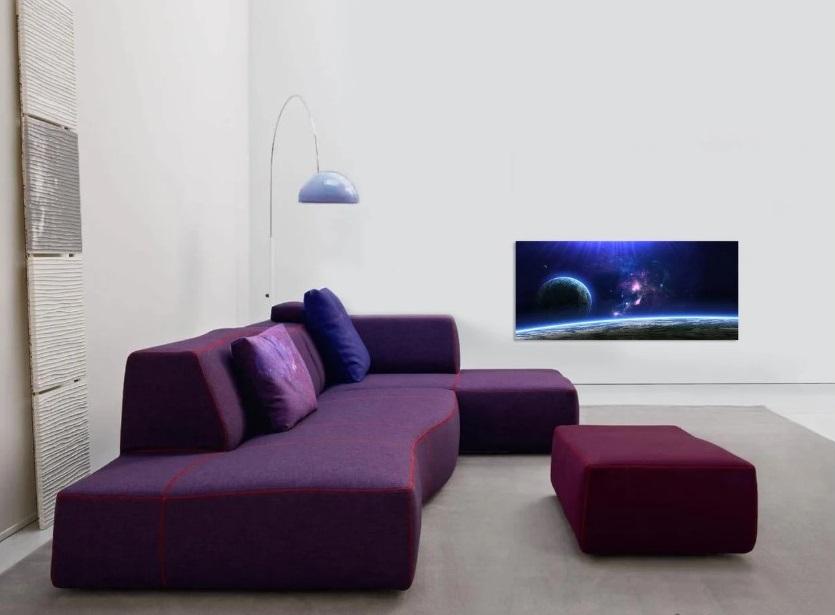 rocno poslikani paneli v prostoru